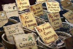 篮子市场植入茶 库存照片