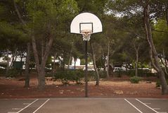 篮子操场在梅诺卡岛 库存照片