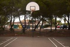 篮子操场在梅诺卡岛 图库摄影