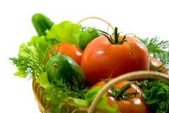 篮子新鲜蔬菜 免版税图库摄影