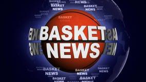 篮子新闻球计算机图表背景 免版税库存照片