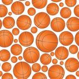 篮子无缝的样式 免版税库存图片