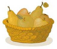 篮子果子 向量例证