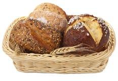 篮子查出的面包健康 免版税库存图片