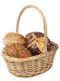 篮子查出的面包健康 免版税库存照片