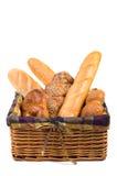 篮子查出的面包新鲜 图库摄影