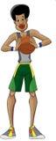 篮子球员 免版税库存照片