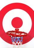 篮子球和射击目标板 图库摄影