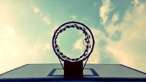 篮子球目标 免版税库存图片