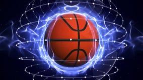 篮子球计算机图表背景 免版税图库摄影