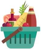 篮子用食物 免版税图库摄影