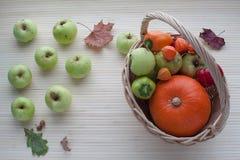 篮子用水果和蔬菜 免版税库存照片