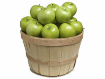篮子用绿色苹果 图库摄影