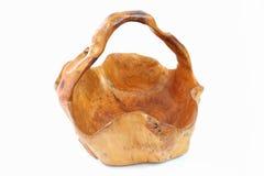 篮子由木材制成 免版税库存照片