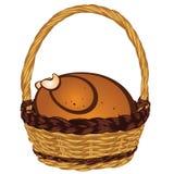 篮子的烤土耳其 库存例证