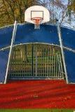 篮子目标环形足球 免版税库存照片