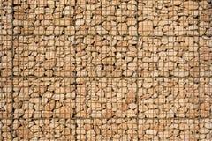 篮子石墙 免版税库存照片
