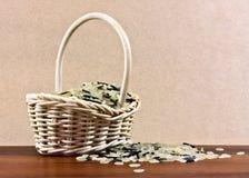 篮子米 免版税库存照片