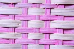 篮子粉红色织法 免版税图库摄影