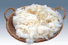 篮子粗砺的羊毛 免版税库存照片