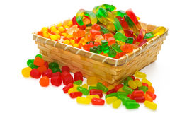 篮子糖果 免版税图库摄影