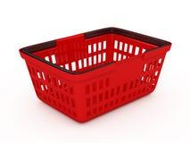 篮子红色购物 皇族释放例证