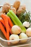 篮子美味蔬菜 免版税库存图片