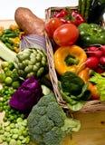 篮子蔬菜 免版税库存图片