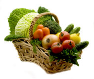 篮子蔬菜 免版税库存照片