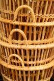 篮子藤条是泰国手工制造的 免版税库存图片