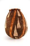 篮子被关闭被编织的博茨瓦纳 免版税库存照片