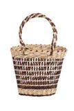 篮子运载的食物柳条 库存照片