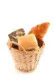 篮子面包卷 免版税库存图片