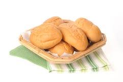 篮子面包正餐卷 免版税库存图片