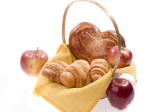 篮子面包食物 库存图片