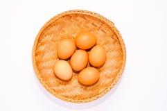 篮子鸡蛋 免版税库存照片