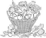 篮子s蔬菜 图库摄影