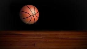 篮球下跌的1 库存照片