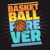 篮球主题的口号T恤杉印刷品设计向量图形 皇族释放例证