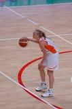 篮球俄语妇女 免版税库存照片