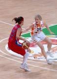 篮球俄语妇女 库存照片