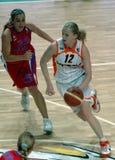 篮球俄语妇女 图库摄影