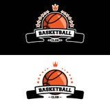 篮球俱乐部商标 免版税库存照片