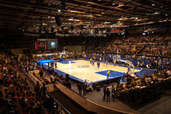 篮球俱乐部帕尔马家庭竞技场  图库摄影