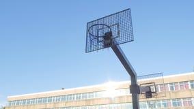 篮球做命中的街道球员 影视素材