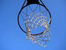 篮球停止的净额 免版税库存图片