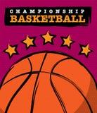 篮球冠军设计 免版税库存照片