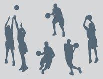 篮球判断向量 免版税库存图片