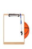 篮球剪贴板 免版税库存图片