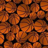 篮球半音梯度无缝的样式 免版税库存照片